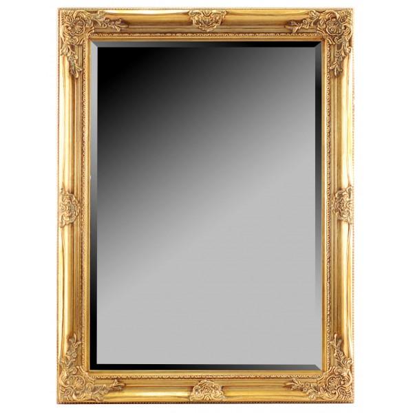 Grand miroir baroque encadrement dor e hauteur 102 cm for Miroir bordure doree