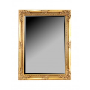 Grand miroir baroque encadrement dor e hauteur 80 cm for Miroir sur pied baroque