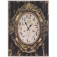 """Horloge baroque MDF thème Vin """"Chateauneuf du Pape"""", hauteur 70 cm"""