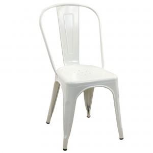 Chaise rétro métal blanche: modèle \