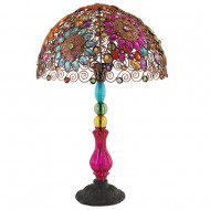 Lampe Baroque multicolore