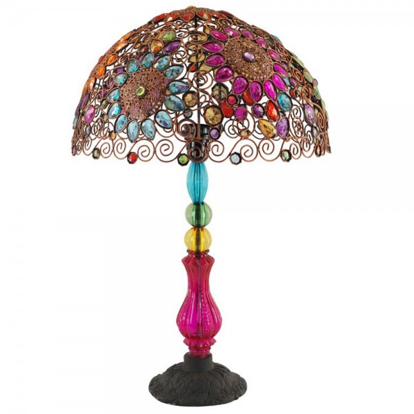 lampe multicolore baroque ou ethnique. Black Bedroom Furniture Sets. Home Design Ideas