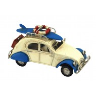 Petite 2CV miniatures, L 16 cm, Bleu & Blanc