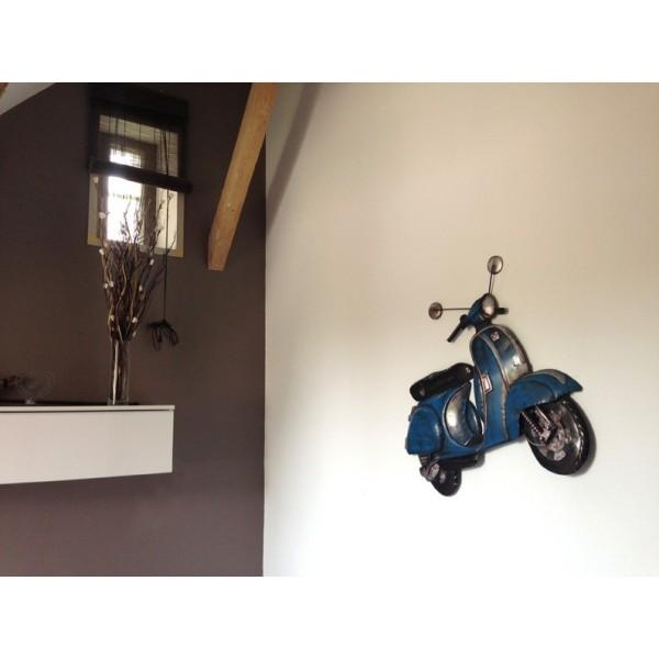 s rie d cos murales de l gende le scooter bleu. Black Bedroom Furniture Sets. Home Design Ideas