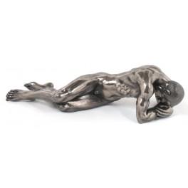 Statuette homme : Repentir, longueur 33 cm