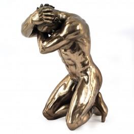 Statuette homme : Folie, hauteur 14 cm