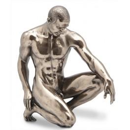 Statuette homme nu : Stand by, hauteur 15 cm