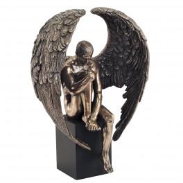 Statuette homme : L'ange déchu, hauteur 26 cm