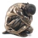Sculpture homme nu : Tourment, hauteur 47 cm