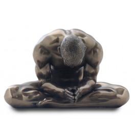Statuette homme nu : Dévotion, H 18 cm