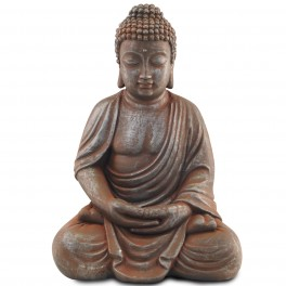 Sculpture Résine : Le Bouddha en méditation, H 48 cm
