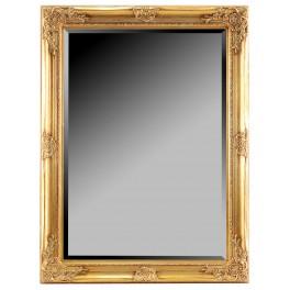 Grand miroir Baroque, encadrement dorée, hauteur 102 cm