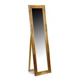 Grand miroir Baroque sur pied, encadrement dorée, hauteur 164 cm