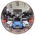 Horloge MDF Diam. 34 cm, 2 CV 3 couleurs à Paris