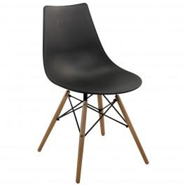 Chaise Industrielle / Scandinave, Modèle Ubik Noir, H 79 cm