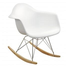 Fauteuil Industriel / Scandinave, Modèle Ubik Blanc, H 70 cm
