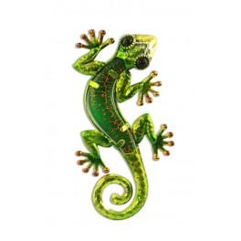 Le gecko coloré, modèle vert H 15 cm