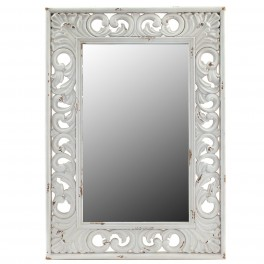 Miroir baroque blanc rectangulaire