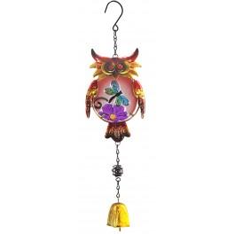 Suspension Cloche Chouette, Modèle libellule, Rouge, H 46 cm