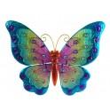 Papillon mural arc en ciel,Vert & Bleu L 42 cm