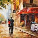 Tableau : Romance à Paris, H100 cm