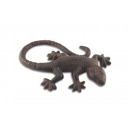 Déco Gecko en fer forgé, longueur 15 cm