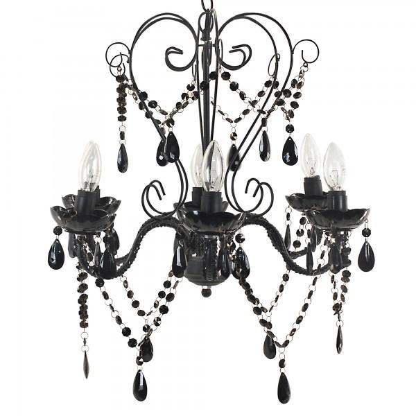 Le lustre baroque noir modèle à 6 bras