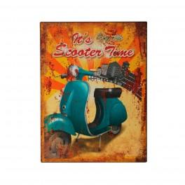 Plaque métal : Vespa Ride, H 33 cm