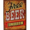 Plaque métal Free Beer Tomorrow