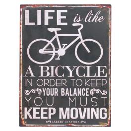 Plaque métal Life is a Bicyle