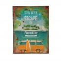 Plaque métal Summer escape to Paradise
