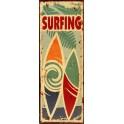 Plaque métal Panneau Surfing