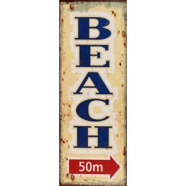 Plaque métal vintage Beach
