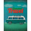 Plaque métal Summer Travel