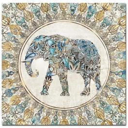 Tableau Eléphant TRIBUTE TO SAVANNAH, H 80 cm