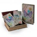 Set 2 Boites Livres Papillon