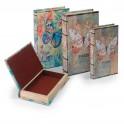 Set 2 boites livres Papillon Mod 1 Papillon Blanc, H 26 cm (Grand)