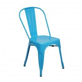 Chaise Rétro Urbaine, Modèle City, Bleu brillant, H 84 cm