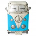 Meuble Combi 2 portes, Couleur Bleu H 80 cm