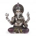 Statuette Ganesh en résine coloré, H 20 cm