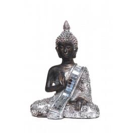 Figurine Mini Bouddha Silver Mod 1, H 13 cm