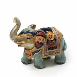 Statuette moderne éléphant, Collection Blue Saphir, H 17 cm