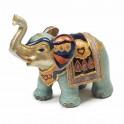 Statuette éléphant Blue Saphir H 13 cm