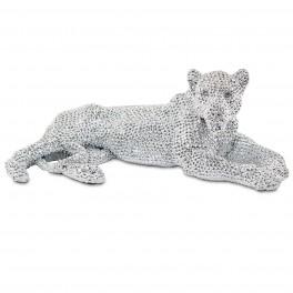 Panthère Couchée Design, Collection Perles de strass, L 32 cm