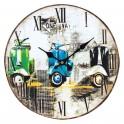 Horloge vintage Vespa 3 couleurs, Diam 34 cm