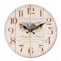 Horloge Vin MDF Beaujolais, Diam 34 cm