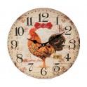 Horloge Coq 3, Diamètre 34 cm