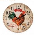 Horloge MDF : Modèle Coq, Diamètre 34 cm