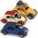 Voiture 2CV miniature Jaune, L 16 cm