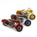 Moto miniature métal L 27 cm Jaune